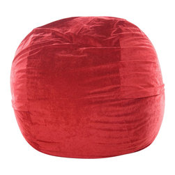 OneUp Innovations, Inc - Jaxx Mini (3 Ft) Foam Beanbag, Microsuede Cinnabar - A modern version of the beanbag chair, Jaxx Sacs represent a more savvy, stylish and comfortable seating alternative. Imagine a pool of luxurious foam 3ft. high and 3 to 6ft. wide covered in soft microfiber. Become one with Jaxx as it engulfs you in its valleys then embrace and support your entire being. Then recline for a rest deeper than time itself. Create a relaxed, informal setting or liven up your home theatre, your gaming room or playroom. Great furniture for apartment dwellers or young modern hipsters who entertain guests frequently. Made with 100% recycled/shredded furniture grade urethane foam. Covers zip-off for machine washing. Shipped compressed under vacuum to save on freight.