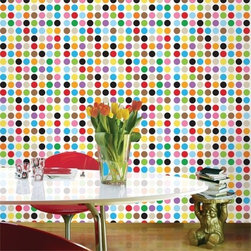 Multi-Dot Removable Wallpaper - Decorate your walls with delightfully dotty removable wallpaper and your place will truly become the pièce de résistance on the dinner party circuit.