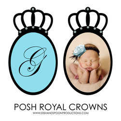 Dish and Spoon Productions - Posh Royal Crowns - Now presenting our beautiful Posh Royal Crown Collection - exceptionally exquisite wall décor for posh tots. Hand-embellished with brilliant Swarovski crystals, these regal works of art are the ultimate decorative luxury for a little prince or princess' fairy tale-inspired nursery or bedroom.