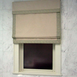 Custom Roman Shade - Custom Roman Shade by Basia Frossard Projects