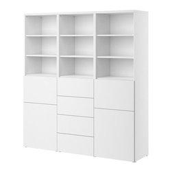 IKEA of Sweden - BESTÅ Storage combination w doors/drawers - Storage combination w doors/drawers, white