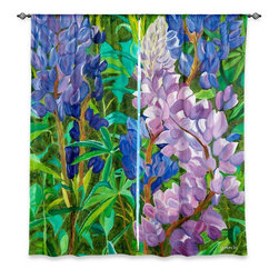 "DiaNoche Designs - Window Curtains Lined by Paul Cadieux - Whispering Flowers - Purchasing window curtains just got easier and better! Create a designer look to any of your living spaces with our decorative and unique ""Lined Window Curtains."" Perfect for the living room, dining room or bedroom, these artistic curtains are an easy and inexpensive way to add color and style when decorating your home.  This is a woven poly material that filters outside light and creates a privacy barrier.  Each package includes two easy-to-hang, 3 inch diameter pole-pocket curtain panels.  The width listed is the total measurement of the two panels.  Curtain rod sold separately. Easy care, machine wash cold, tumble dry low, iron low if needed.  Printed in the USA."