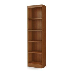 South Shore Axess Collection 5-Shelf Narrow Bookcase - Morgan Cherry - The South Shore Axess Collection 5-Shelf Narrow Bookcase - Morgan Cherry is tall and narrow, making it an excellent choice for any sized library or office. It features five levels of open storage space and three adjustable shelves so you can house a variety of items. This bookcase is well-made of strong laminate with a handsome morgan cherry finish. About South Shore FurnitureA recognized leader in North American furniture manufacture, South Shore Industries was established in 1940 and has been making furniture for three generations. Employing a team of over 1,000 employees in three factories in Quebec, their assembled and ready-to-assemble furniture has a reputation for quality and excellence at affordable prices for today's family.