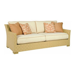 Lexington - Tommy Bahama Canberra Surf & Sand Sofa - The sofa frame is attractive and comfortable whether you select the boxed edge back cushion set or the multiple scatter back pillow cushion set, sold separately. Both sets include throw pillows, see store for details.
