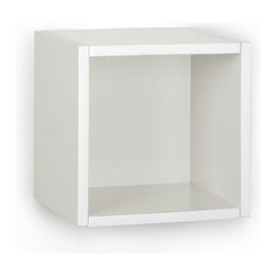 Way Basics - Way Basics Eco Wall Cube Shelf, White - Storage Cubes specifically designed to hang on a wall? You asked, and we listened! Your favorite organizational solution has grown wings! Our new Wall Cubes maintain the simple design and functionality of the cube, but can now help you organize your wall space!