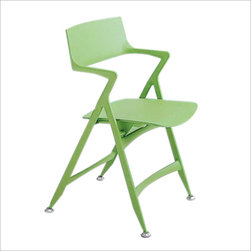 Kartell - Dolly Folding Chair, Pistachio - This ingenious little chair is a party favor for grown-ups — it stays neatly folded and stashed away when not in use and offers seating in an instant as more of your guests arrive. Made of lightweight, easy-to-clean plastic, it's available in a palette of vivid and muted color options to suit your style.