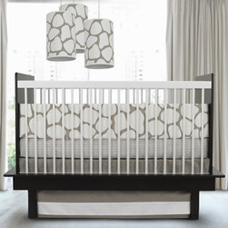 Oilo Studio Cobblestone Crib Set, Taupe - This adorable modern crib bedding is neutral, which allows you to add in other colors if you'd like.
