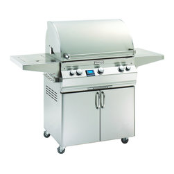 "Fire Magic - Fire Magic Aurora A660s-2E1N-62 Cart Gas Grill - Cast stainless steel E'' burners guaranteed for life. Largest cooking space compared to other same size grills. Most BTU's per square inch. Heats fast and stays hot! 16-gauge stainless steel flavor grids are engineered for durability and even heat distribution. Built-in Interior Lights Integral and removable oven warming rack for light cooking or warming food Electronic Spark ignition simply push in the control knob, turn up the gas and light the grill (no batteries required) Meat probe with digital thermometer Optional recessed stainless steel rotisserie back burner and heavy duty rotisserie kit Built-in storage rack for rotisserie spit rod Extensive line of complementary accessories 660 square inches (30"" x 22"") cooking surface15 year warranty on backburners. Cast stainless steel burners, stainless steel housing and stainless steel cooking grids are warranted for as long as you own your grill"