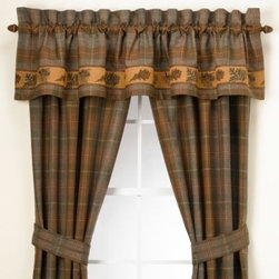 Croscill - Croscill Caribou Window Valance - These inviting window panels are a handsome addition to any room. The warm tones make it the ideal coordinate to the Caribou bedding.