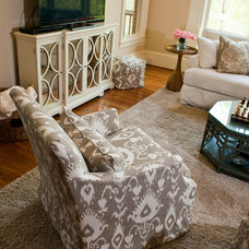 Traditional Family Room by Rachel Greathouse