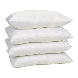 None - Egyptian Cotton Hypoallergenic Poly-fill Pillows (Set of 4) - Rest in complete comfort each night with this set of four hypoallergenic cotton pillows. Crafted from luxurious Egyptian cotton and filled with 100 percent polyester, these pillows provide soft comfort for sweet dreams and easy maintenance.