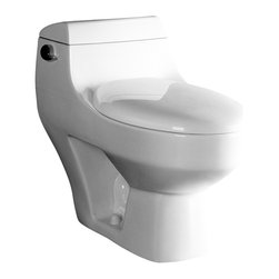"""Ariel - Ariel Platinum """"Athena""""  Contemporary One Piece White Toilet 29x15x26 - Ariel cutting-edge designed one-piece toilets with powerful flushing system. It's a beautiful, modern toilet for your contemporary bathroom remodel."""