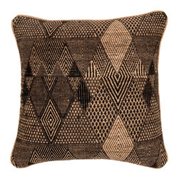 Barn & Willow - Tribal Diamond Pillow Cover - This handwoven handloom silk and wool pillow cover depicts a tribal Diamond design.