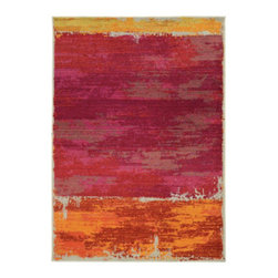 "Grandin Road - Mila Area Rug - Let the rich hues of our colorblock area rug add a contemporary vibrance to your floor. Machine woven construction. 100% polypropylene. 2/5"" thick. Extend the life of your rug with one of our indoor rug pads (sold separately). Home in on your own distinct look with the artful Mila Area Rug. The colorblock design is woven to create a foundation that's reminiscent of an abstract expressionist painting, with a worn, vintage look. The highly durable construction will provide you with comfort and style underfoot for years to come.. . . . . Imported."