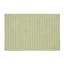 Parker Outdoor Rug, 4 x 6', Green - Woven on a hand loom, our Parker Rug combines the chunky texture of a traditional rag rug with the durability of polypropylene to enhance spaces indoors and out. Handwoven of polyester yarns. Yarn dyed for vibrant, lasting color. Easily rinses clean. Use with our Rug Pad (sold separately). Catalog / Internet Only. Imported.