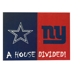 Fanmats - NFL Cowboys-Giants House Divided Accent Rug - Features: