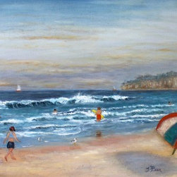 """California Dreamin"" (Original) by Tracey Peer - Strolling along the shores of Mission Beach in San Diego was captivating and fun!"
