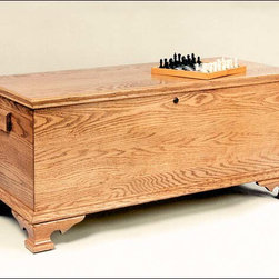 Fifthroom - Seasons Oak Chest - If you want to give something that will last, and be cherished throughout the years, our Seasons Chest is just such a gift.  Crafted from genuine Oak, it's given a dazzling finish with one of our gorgeous wood-tone stains then covered with two coats of lacquer.  With a cedar bottom to safeguard valued keepsakes, this durable chest will be the present of a lifetime for someone you love � so don't forget to put yourself on that list.