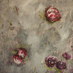 Theresa Stirling Art Studios - Botanicals 2.0 - Lovely, whimsical new encaustic botanicals for your inspired space. Wax and oil combined, slowly, layer by layer, creates a luminous gorgeous piece to fit any style. Each one of these new pieces becomes a statement piece.  Rich greys, eggplants, purples, and lavenders, with cranberry colors.