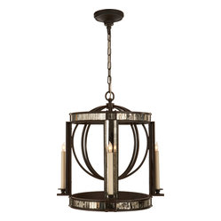 Kate Lantern, Aged Iron with Antique Mirror
