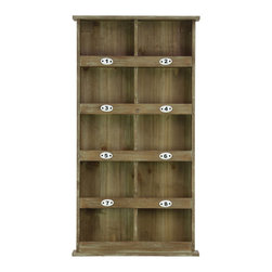 Wood Wall Mail Organizer Numbered Shelves - Natural Wood Finish - *Wood Wall Mail Organizer with 8 Numbered Shelves and 2 Shelves Natural Wood Finish