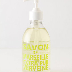Anthropologie - Savon De Marseille Hand Soap, Fresh Verbena - I've been using Savon de Marseille products for years, and I am still in love with their iconic glass bottles. But the best part is that their hand soaps smell so divine that they'll make every hand washing an unforgettable experience.