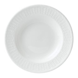 Wedgwood Nantucket Basket Rim Soup Bowl - The Wedgwood Nantucket Basket Rim Soup Bowl is decorated in the signature motif of the Wedgwood Nantucket collection: an elegant basket weave inspired by the world-renowned weavers of 19th century Nantucket. This lovely bowl is made from pure white fine bone china, and is safe for both microwave and dishwasher.About WedgwoodThrough highly skilled craftsmanship and the highest quality standards, Wedgwood manufactures quality ceramics with sophisticated, classical, and contemporary design. With a tradition of innovation, quality, and craftsmanship, Wedgwood designs are widely acknowledged as timeless, elegant, classic, and understated. Their design teams work with external designers for cross-pollination of ideas and experience. Founded in 1759 by Josiah Wedgwood, Wedgwood has been an international company determined to uphold their standards in order to maintain their leadership in the world's markets. Though their roots are over two centuries old, the company strives to stay current through partnerships with fashion designers Jasper Conran and Vera Wang with whom they've developed contemporary and stylish ranges that appeal to the younger consumers.