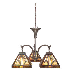 Quoizel - Quoizel TFST5103VB Stephen 3 Light Chandeliers in Vintage Bronze - This 3 light Chandelier from the Stephen collection by Quoizel will enhance your home with a perfect mix of form and function. The features include a Vintage Bronze finish applied by experts. This item qualifies for free shipping!