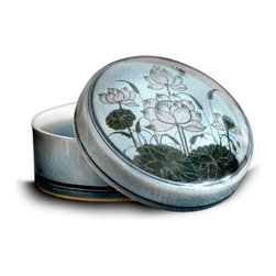bailanmu - Lotus Flower Round Box - Personal with a piece of history. This delicately crafted box is big enough to hold all that is dear and personal as well and serve as a decorative art piece to any room.