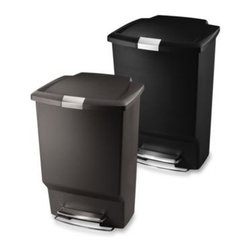 Simplehuman - simplehuman Rectangle 45-Liter/12-Gallon Step Trash Cans - A great value for any kitchen, the simplehuman rectangular plastic step cans have unprecedented features.