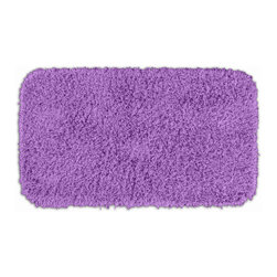 "Sands Rug - Quincy Super Shaggy Purple Washable Runner Bath Rug (2'6"" x 4'2"") - Jazz up your bathroom, shower room, or spa with a bright note of color while adding comfort you can sink your toes into with the Quincy Super Shaggy bathroom collection. Each piece, whether a bath runner, bath mat or contoured rug, is created from soft, durable, machine-washable nylon. Floor rugs are backed with skid-resistant latex for safety."