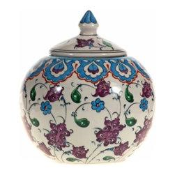 Mediterranean Sea Round Jar, Design D - Mediterranean Sea Round Jar