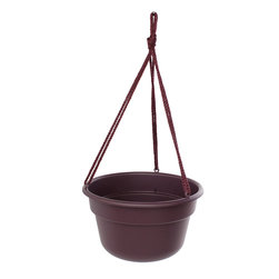 Bloem Living - Exotica Dura Cotta Hanging Basket - Inspired by classic clay planters, this bowl is made from durable and recyclable polypropylene to offer a traditional look without the heavy weight or risk of breaking.   Polypropylene Made in the USA