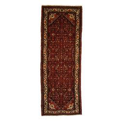 eSaleRugs - 3' 8 x 9' 8 Hossainabad Persian Runner Rug - SKU: 110892575 - Hand Knotted Hossainabad rug. Made of 100% Wool. 30-35 Years.