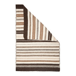Hook & Loom Rug Company - Tunis Natural Wool Woven Rug - 100% Natural Wool Rug, expertly and tightly hand-woven. Edges are hand bound instead of hemmed, so this rug is 100% reversable for twice the wear. Colors are natural sheep colors. We use no dyes, chemicals, or latex, so it is earth-friendly and family friendly.