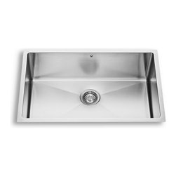 Vigo - Vigo VG15053 30 in. Single Basin Stainless Undermount Kitchen Sink Set with Grid - Shop for Kitchen from Hayneedle.com! Faucet:Single-hole solid brass faucet with a pull-out spray headResists corrosion and tarnishingCeramic disc cartridgeSingle lever for water and temperature controlFlow rate: 2.2 gallons per minuteHose length: 30 inchesPlumbing connection: .375 inchesSpout reach: 9.5 inchesFaucet height: 18.75 inchesDispenser:Soap dispenser with a 12-ounce reservoirAccommodates liquid soap lotion or liquid detergentFits 1.5-inch openingsSpout reach: 3.5 inchesAbout Vigo Industries LLCFounded just over a decade ago in Rahway N.J. Vigo Industries has established a reputation for offering attractive affordable innovative and durable kitchen and bath products. From faucets and sinks to shower enclosures and bathroom vanities Vigo's products are designed with state-of-the-art engineering that combines efficiency and elegance. Vigo's engineering and design teams always look ahead to fulfill the ever-evolving needs and tastes of consumers bringing them the latest styles and trends without compromising quality.