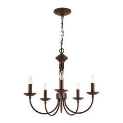 Trans Globe Lighting - Trans Globe Lighting 9015 ROB Chandelier In Rubbed Oil Bronze - PART NUMBER: 9015 ROB