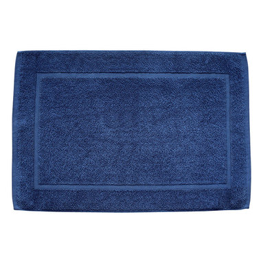 bailanmu - Sea Blue Bath Mat - Dense and absorbent with simplicity in design. Thick loops and compact to be soft to the feet and designed to dry quickly. This calming shade,Sea Blue, was dyed to match our gauze towel for a complete collection.