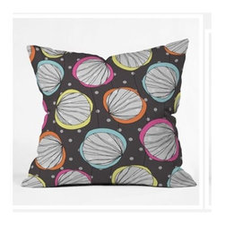 """DENY Designs - Rachael Taylor Scribble Shells Throw Pillow - Wanna transform a serious room into a fun, inviting space? Looking to complete a room full of solids with a unique print? Need to add a pop of color to your dull, lackluster space? Accomplish all of the above with one simple, yet powerful home accessory we like to call the DENY Throw Pillow! Features: -Rachael Taylor collection. -Material: Woven polyester. -Sealed closure. -Spot treatment with mild detergent. -Top and back color: Print. -Made in the USA. -Closure: Concealed zipper with bun insert. -Small dimensions: 16"""" H x 16"""" W x 4"""" D, 3 lbs. -Medium dimensions: 18"""" H x 18"""" W x 5"""" D, 3 lbs. -Large dimensions: 20"""" H x 20"""" W x 6"""" D, 3 lbs."""
