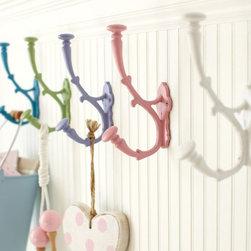 Savannah Metal Hooks - I love these vintage-inspired hooks updated in fresh pastel colors.