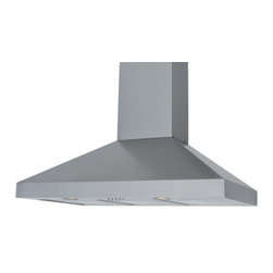 "Windster - RA-77B30SS 30"" Wall Mount Hood With 640 CFM  5.4 sones  3 Speed  2 LED Lights  R - Windster39s RA-77B Wall Hoods offer a powerful 640 CFM blower and sleek design including push button controls and LED lighting It features perfect welding and no sharp edges Additionally this poweful range hood features 54 sones for excellent performance"