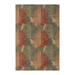 Chandra Rugs - Hand-Tufted Designer Wool Rug ALF2107 - 7'9 x 10'6 - Hand-tufted Designer Wool Rug - ALF2107 - 7'9 x 10'6