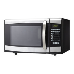 Danby - .9 cu.ft. Microwave, Black With Stainess Steel -