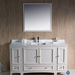 "60"" Oxford Single Vanity - White (FVN20-123612AW) -"