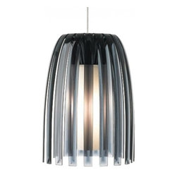 """LBL Lighting - LBL Lighting Mini Olivia low voltage pendant lamp - Products description: The Mini Olivia low voltage pendant lamp from LBL Lighting is designed by Koziol or Germany and made in the USA. The Mini Olivia low voltage pendant lamp is made for domestic and commercial use and comes with mounting options FSJ, MPT, MR2 and MRL. This fixture features an elegant and graceful modern pendant comprised of 100% recyclable plastic which surrounds a hand-blown inner opal diffuser. This fixture comes with 6 feet of field-cuttable cord and is available in black, clear or smoke color with a satin nickel finish. This fixture is compatible with the LBL Single Circuit Monorail, LBL Two-Circuit Monorail, or LBL Fusion Jack Canopies.  Products description: The Mini Olivia low voltage pendant lamp from LBL Lighting is designed by Koziol or Germany and made in the USA. The Mini Olivia low voltage pendant lamp is made for domestic and commercial use and comes with mounting options FSJ, MPT, MR2 and MRL. This fixture features an elegant and graceful modern pendant comprised of 100% recyclable plastic which surrounds a hand-blown inner opal diffuser. This fixture comes with 6 feet of field-cuttable cord and is available in black, clear or smoke color with a satin nickel finish.  This fixture is compatible with the LBL Single Circuit Monorail,LBL Two-Circuit Monorail, or LBL Fusion Jack Canopies.                                     Manufacturer:                                      LBL Lighting                                                     Designer:                                      Koziol of Germany                                                     Made  in:                                     USA                                                     Dimensions:                                      Height: 11"""" (27.9m) X Width: 7"""" (17.8cm)                                                     Light bulb:                                      1 X 50W GY6.35 Xenon or 1 X 6W L"""
