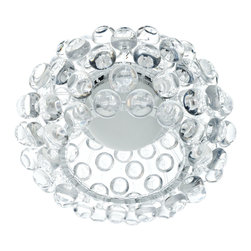 "Modway - Modway EEI-822 Halo 12"" Ceiling Fixture in Clear - The circle of revolution displayed by the Halo Series introduces spontaneous brilliance that reflects powerfully throughout any room. Adorning its bearer, the glass globe is a crown of experiential motion."