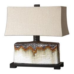 Uttermost - Uttermost 26455-1 Adelanto Antiqued Ivory Table Lamp - Uttermost 26455-1 Adelanto Antiqued Ivory Table Lamp