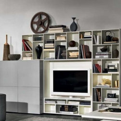 Novecento TV Stand and Wall Unit by Natuzzi Italia -