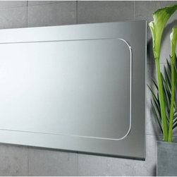 """Gedy by Nameeks - Planet 23"""" x 40"""" Vanity Mirror - Features: -Vanity mirror. -Finish: Polished. -Constructed of mirror. -Shape: Rectangle. -Wall mounted. -For contemporary bathrooms . -Dimensions: 22.6"""" H x 0.8"""" D x 39.4"""" W."""
