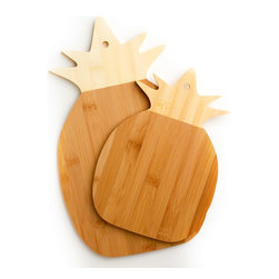 None - Cooks Corner 100-percent Real Bamboo Pineapple Shaped Cutting Board (Set of 2) - Cut all of your food on this set of bamboo cutting boards. These boards are made from natural bamboo, which is harder and more durable than other cutting boards. This is a good buy for the eco-conscious since bamboo is a renewable resource.